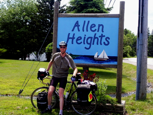 Picture of Allen and his bicycle